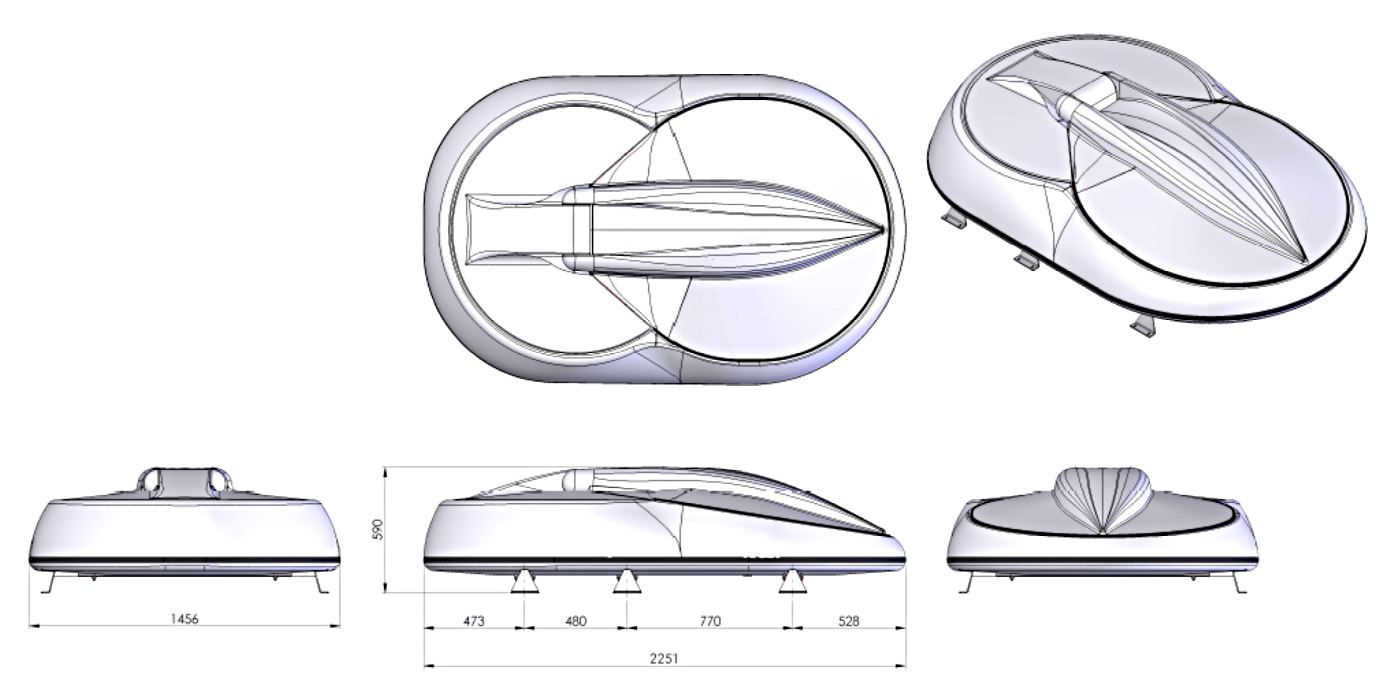 VPS-X Gyro 1.3 Meter - Technical Drawing